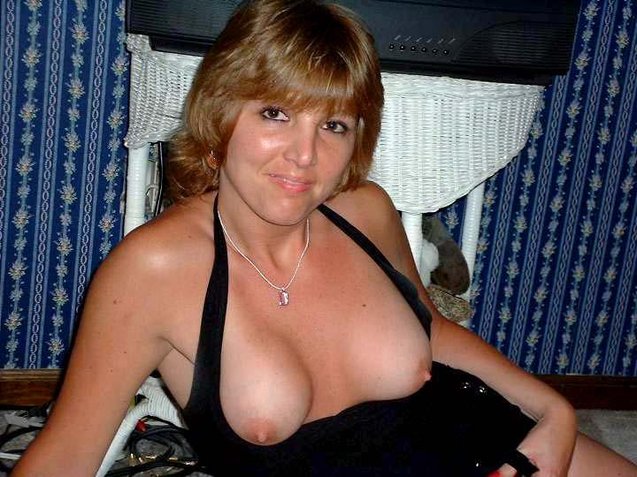 Horny milf is laying on bed - 2