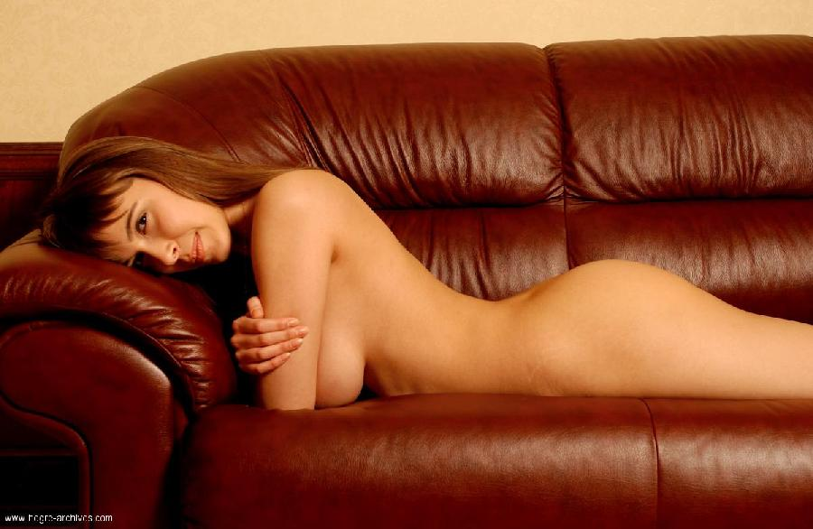 Busty Darina on sofa - 7