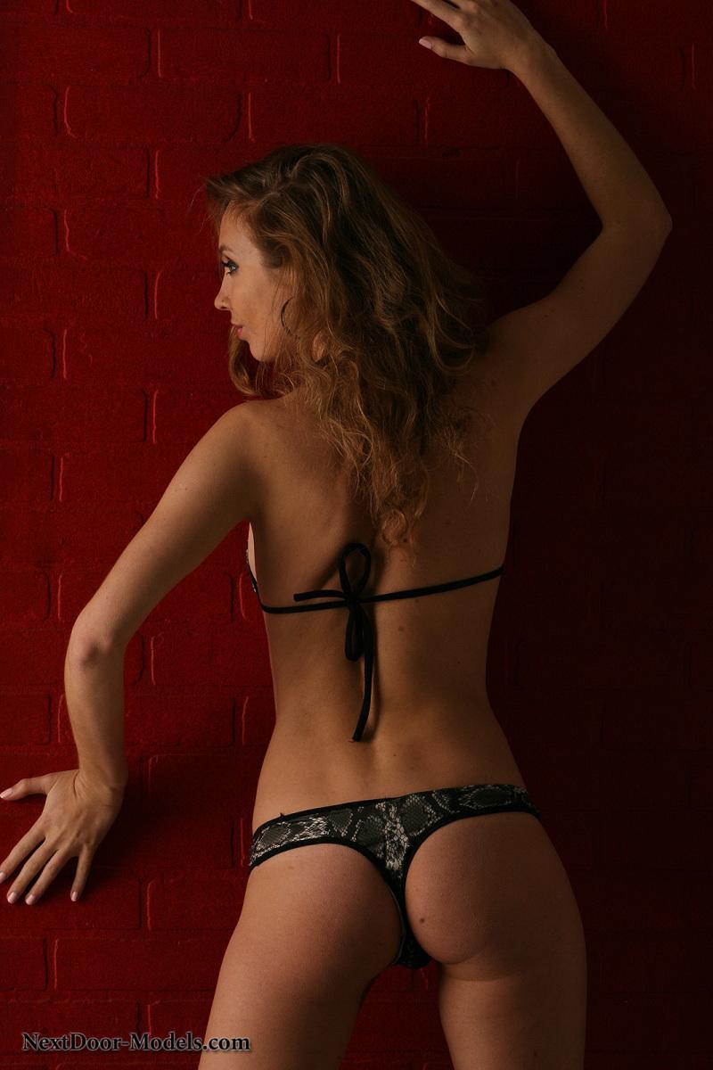 Stunning model in snake skin bikini - Sasha - 1