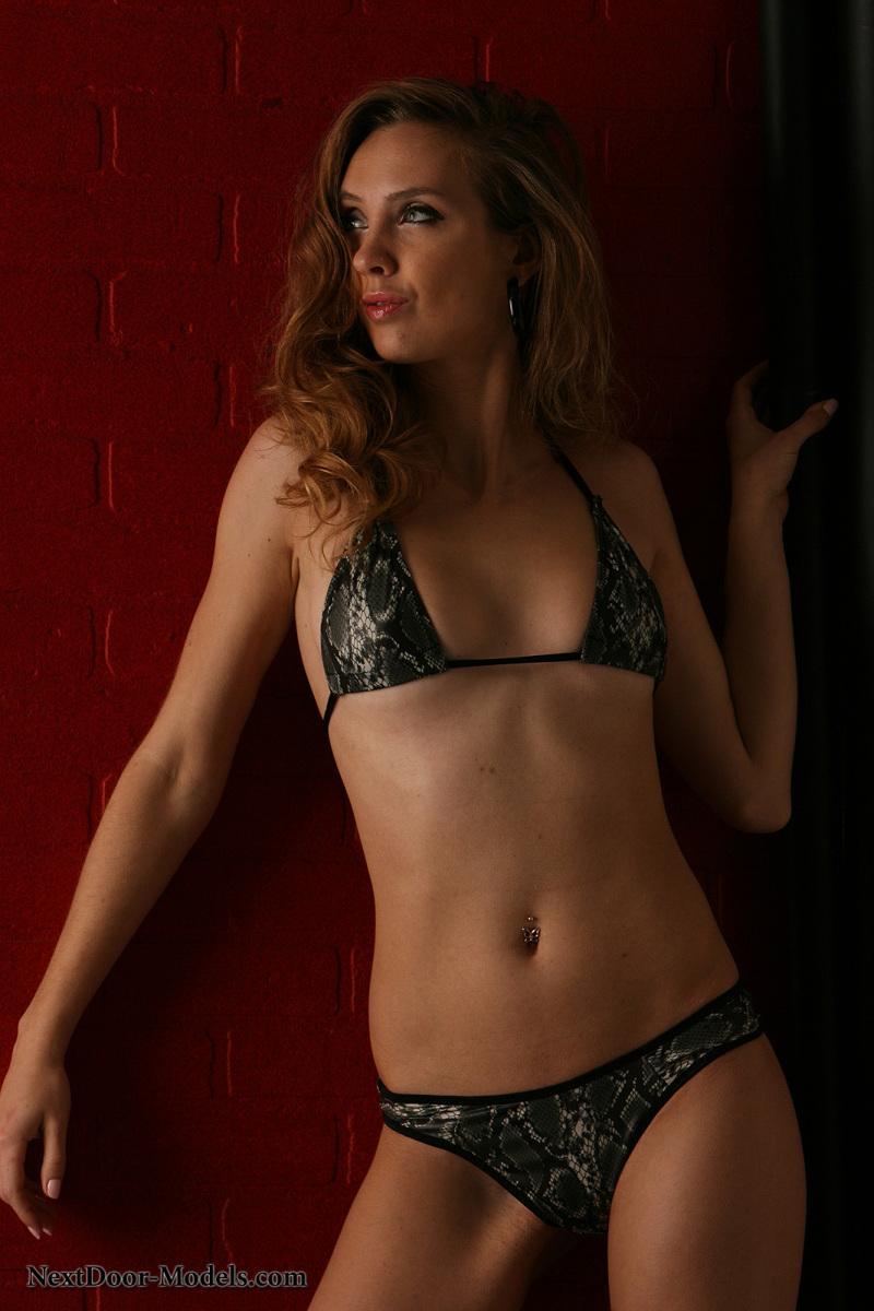 Stunning model in snake skin bikini - Sasha - 2