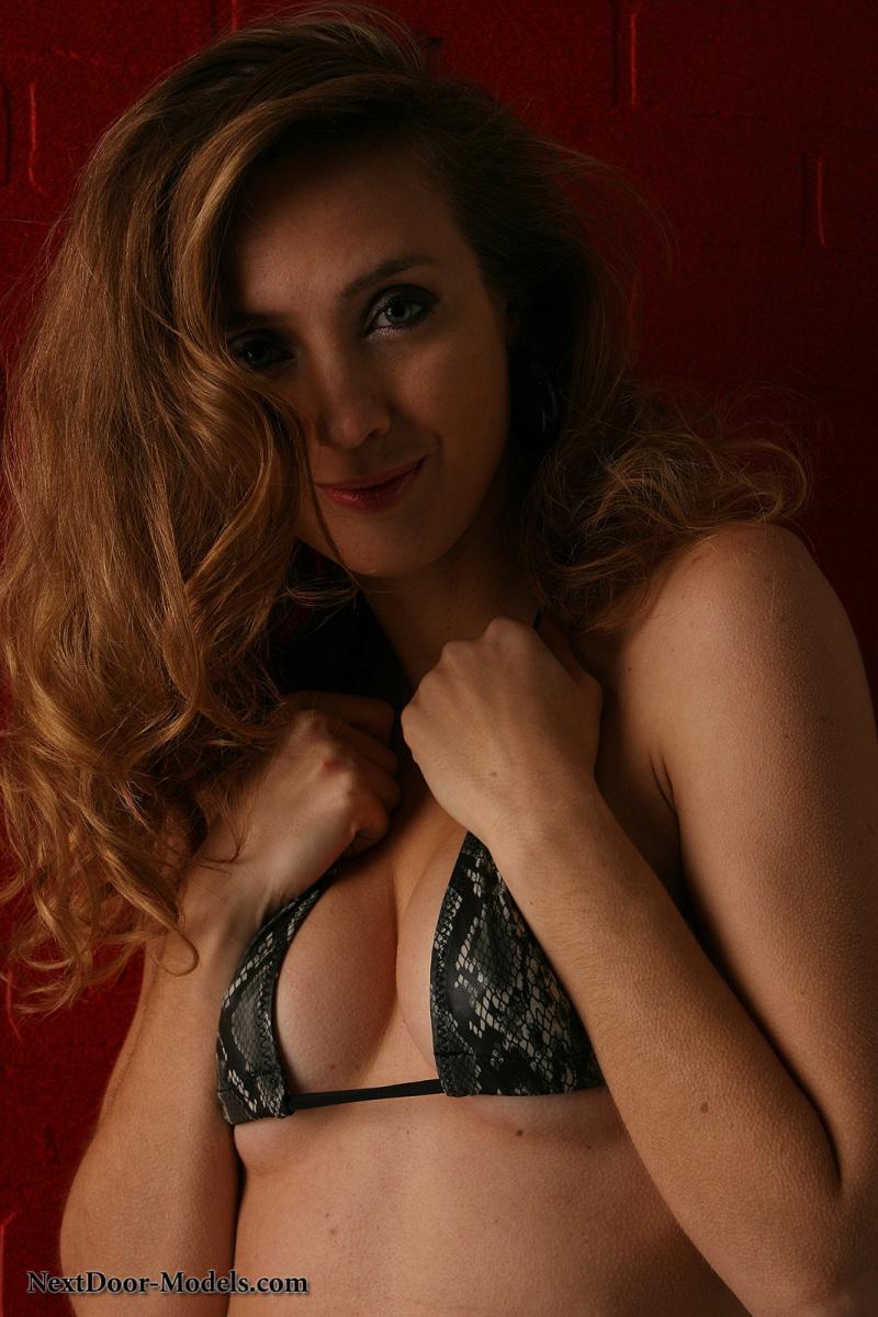Stunning model in snake skin bikini - Sasha - 3