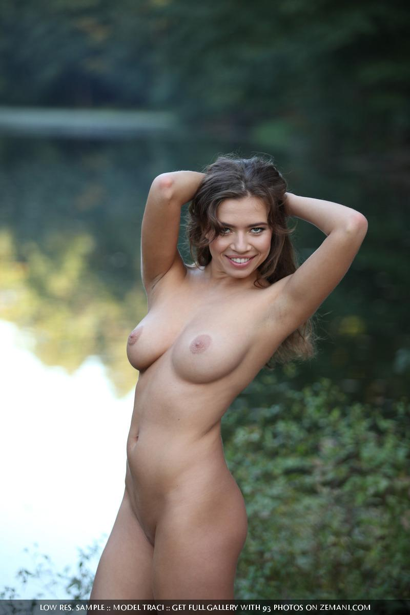 Naked and magic girl near the lake - Traci - 13