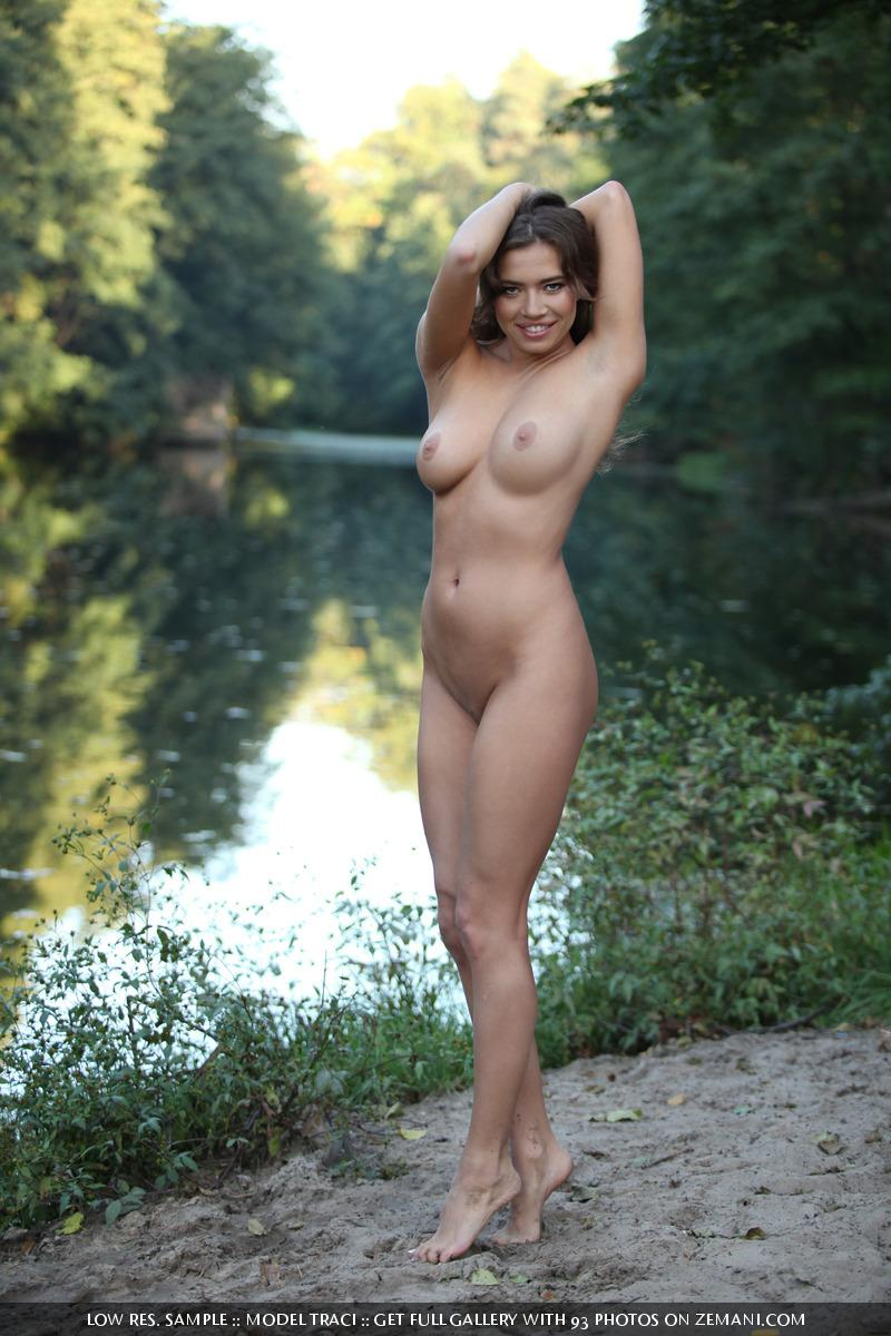 Naked and magic girl near the lake - Traci - 14