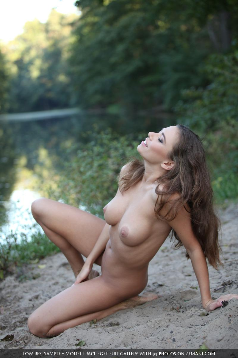 Naked and magic girl near the lake - Traci - 2