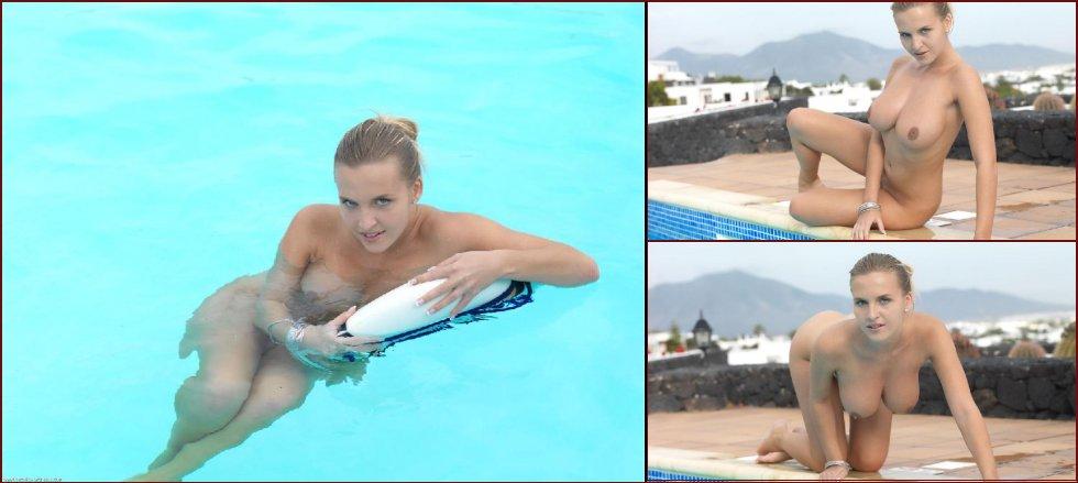 Voluptuous chick nude in the pool - Cikita - 36