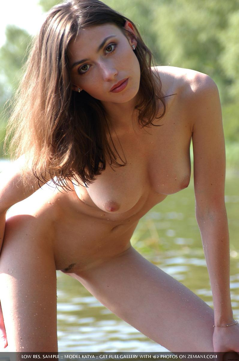 Teen Katya with a fantastic body poses nude on the sand - 24