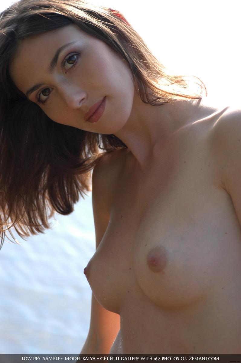 Teen Katya with a fantastic body poses nude on the sand - 28