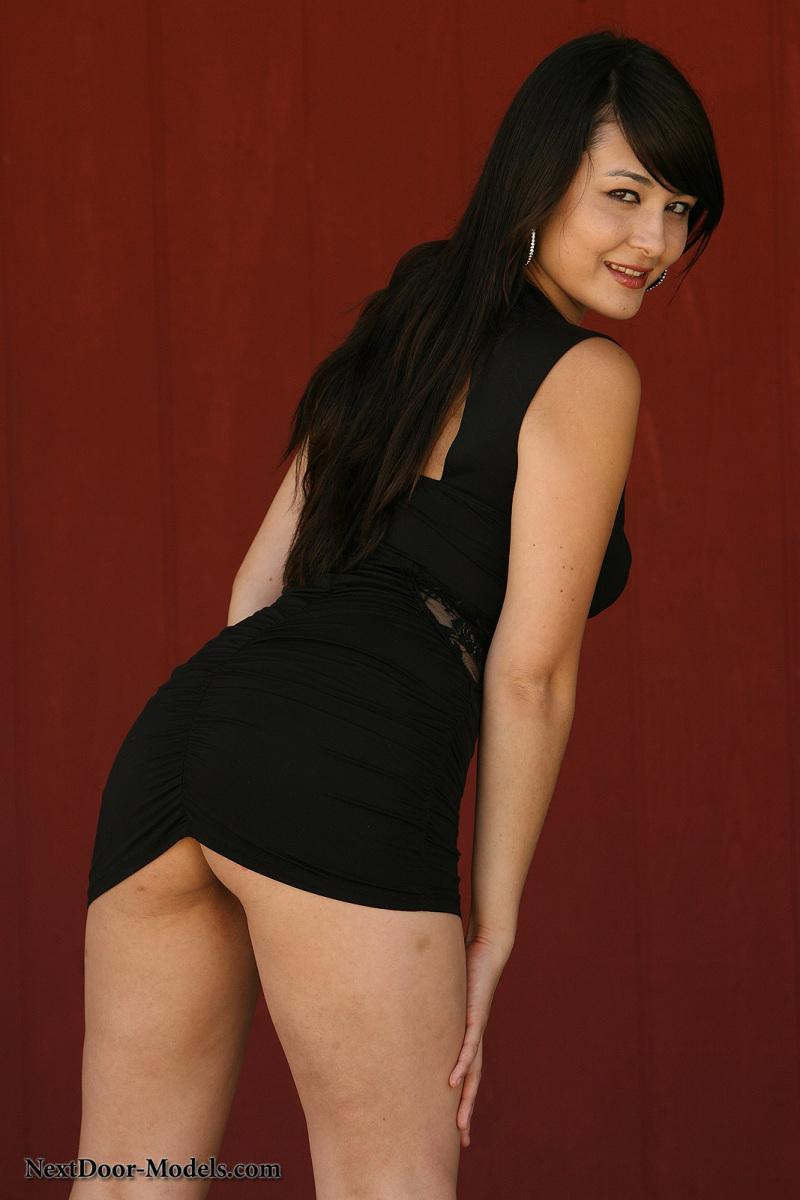Sophie is hot as hell in her tight little black dress - 1