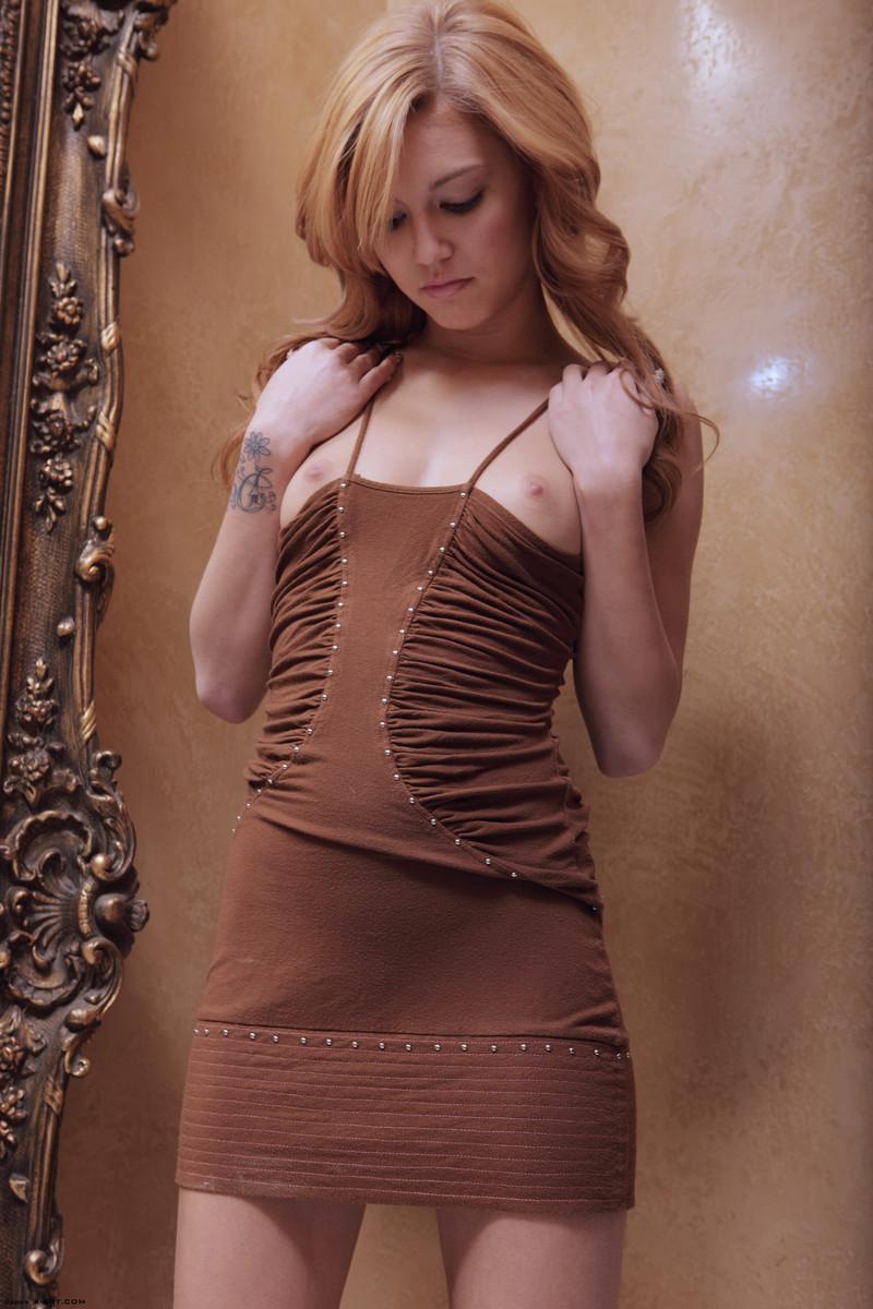 Amazing Kato takes off brown dress - 1