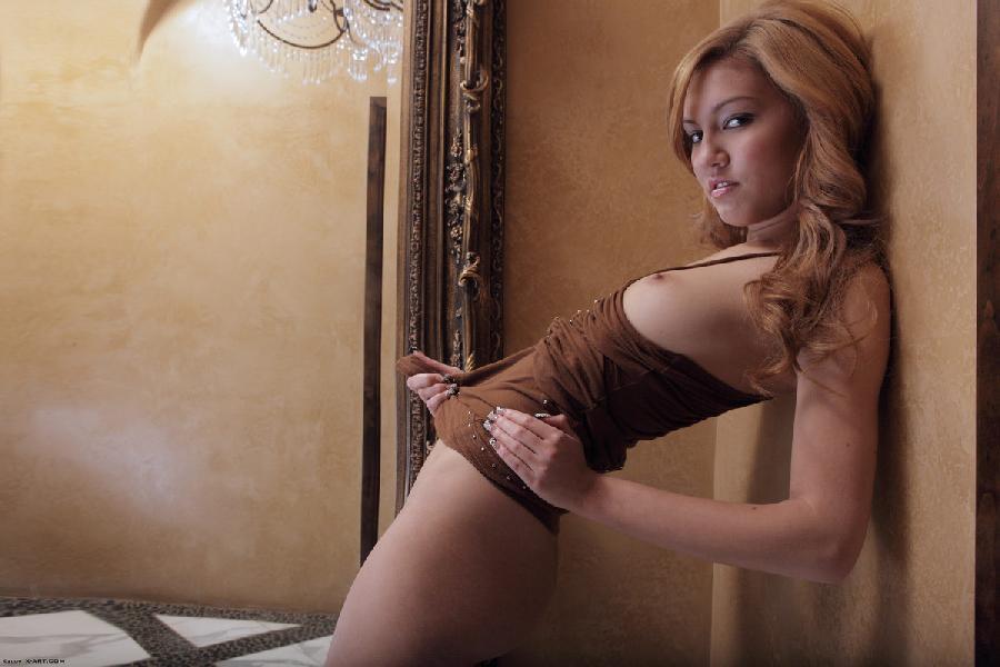 Amazing Kato takes off brown dress - 3