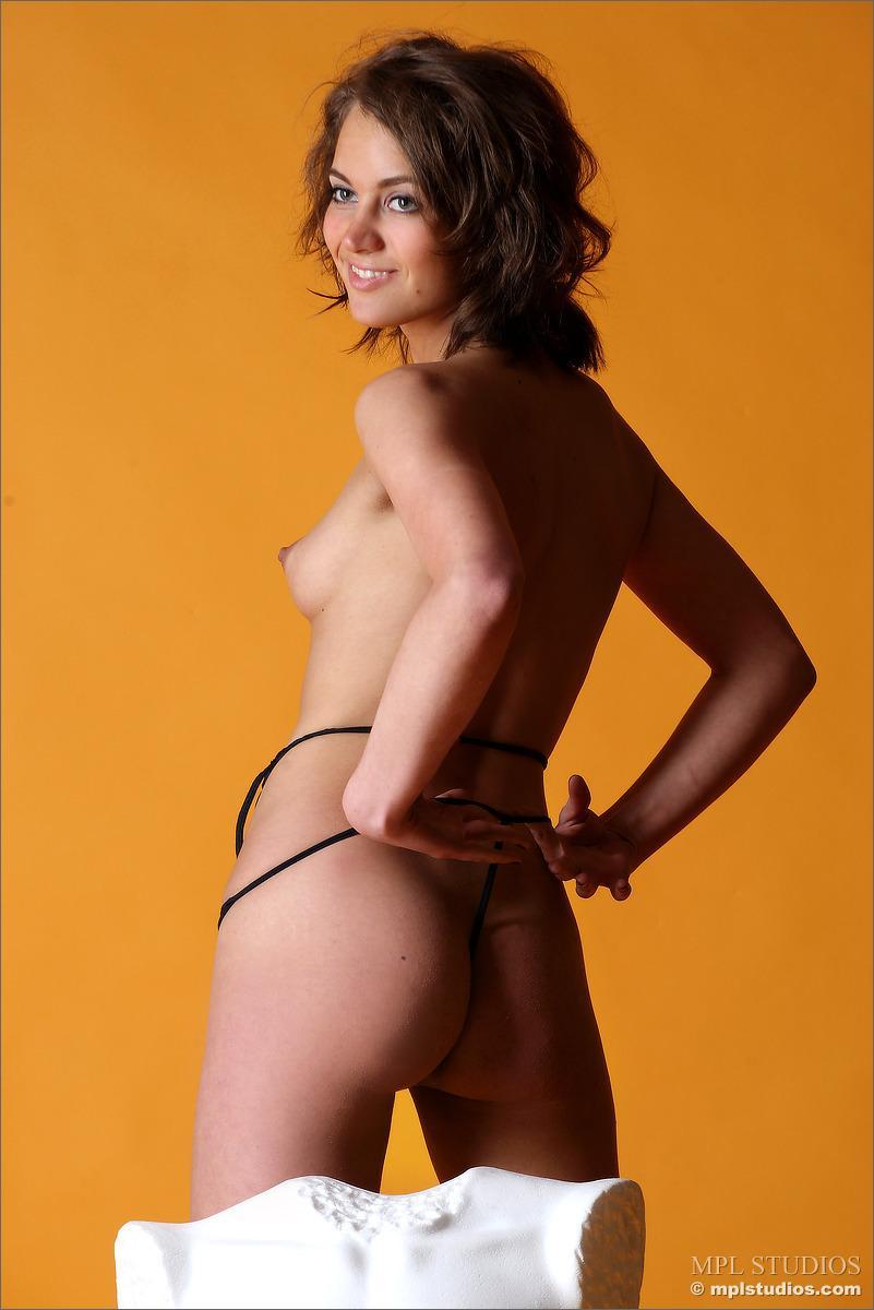 Sensual girl in killer transparent black lingerie - Lera - 6