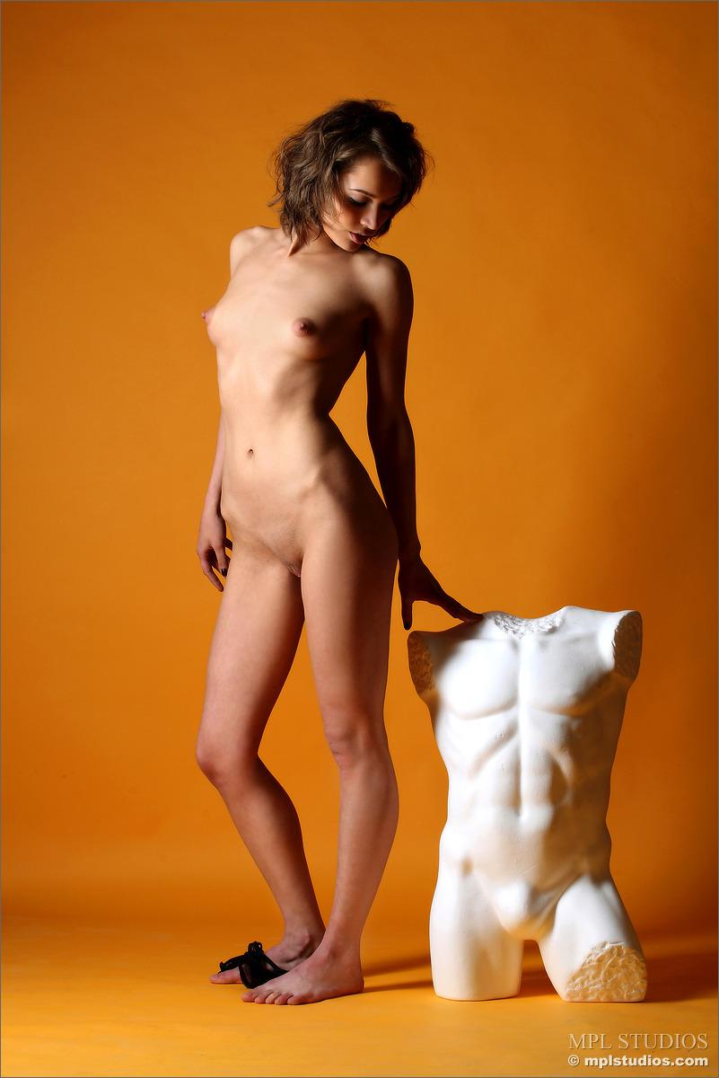 Sensual girl in killer transparent black lingerie - Lera - 8