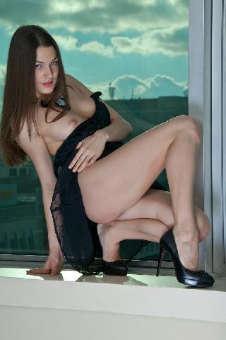 Sexy session on the windowsill - Vanda B