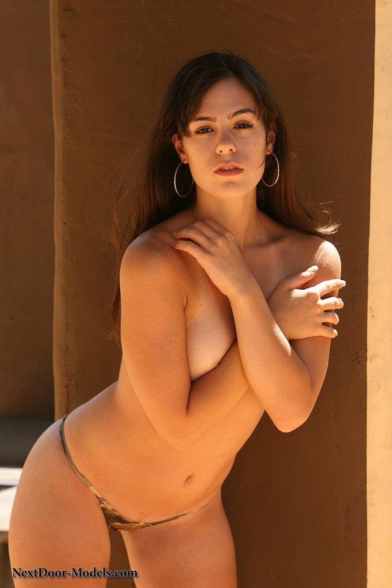 Abby Brooks is posing outdoor - 3
