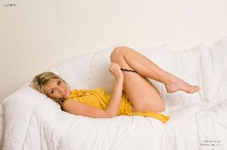 Horny blonde and her bed story - Gina D. Part 2