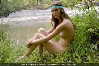Delightful Dasha in nature