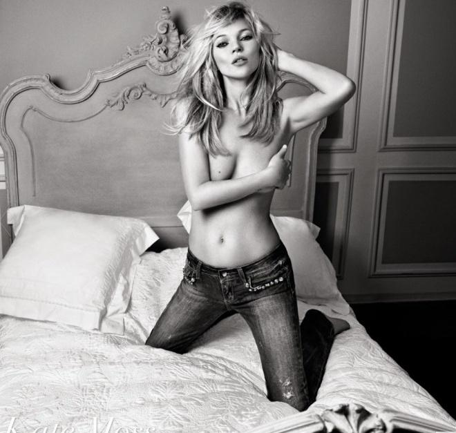 British model in black and white pics - Kate Moss - 2