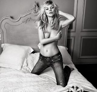 British model in black and white pics - Kate Moss