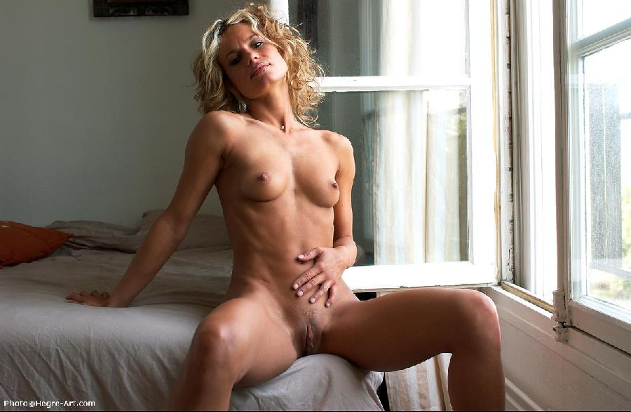 Nude blonde girl puffy nipples