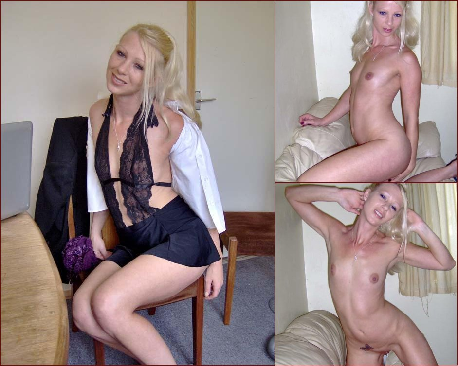 Blonde with butterflu above pussy - 34