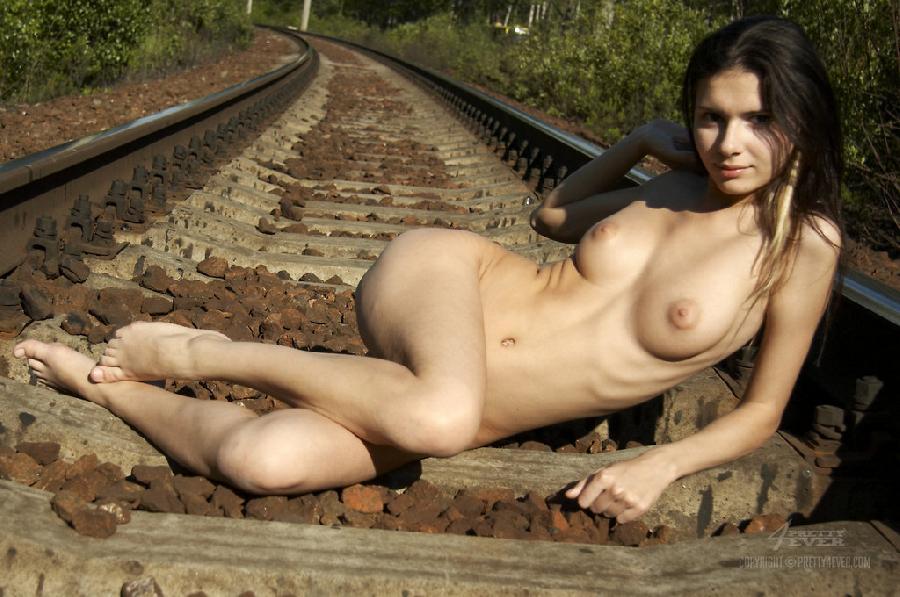 Naked girl on train tracks - Sonia - 11