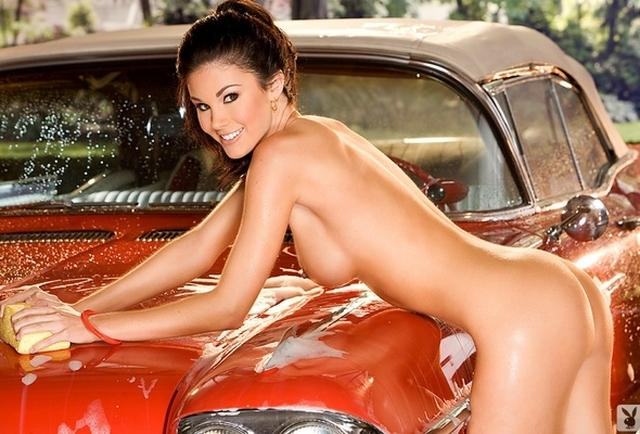 Hot naked girls car wash