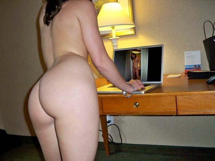 Pretty brunette in hotel - 7