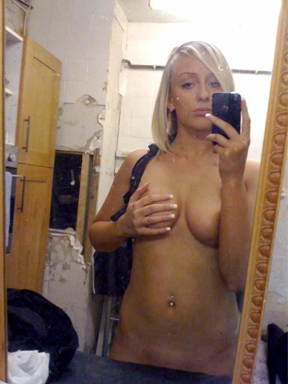 Blonde amateur with natural boobies - 2