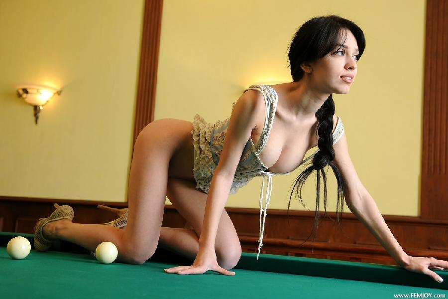 Sexy on pool table - Vic E - 4