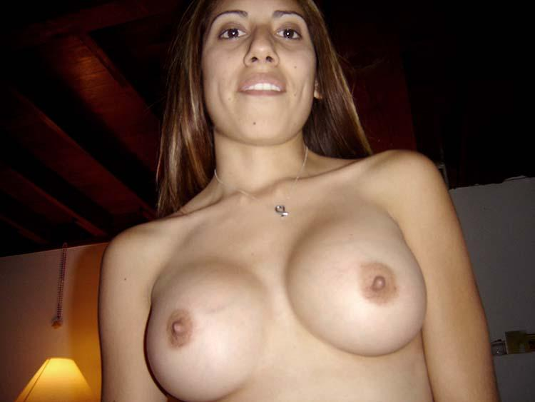 Latina wife shows her goodies - 9
