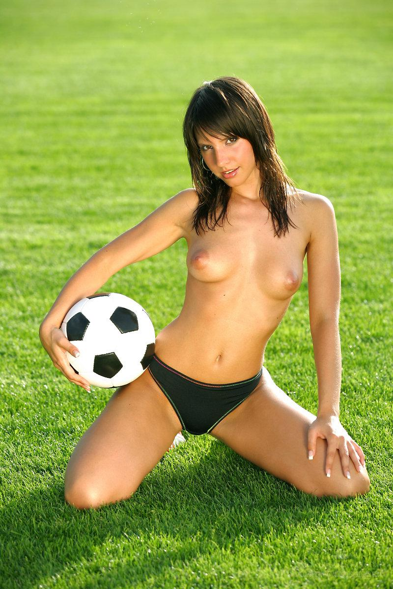 Marvelous girl loves football - Monika Vesela - 1