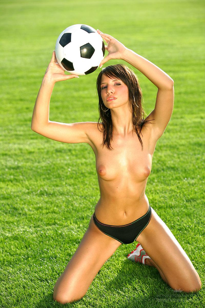 Marvelous girl loves football - Monika Vesela - 3