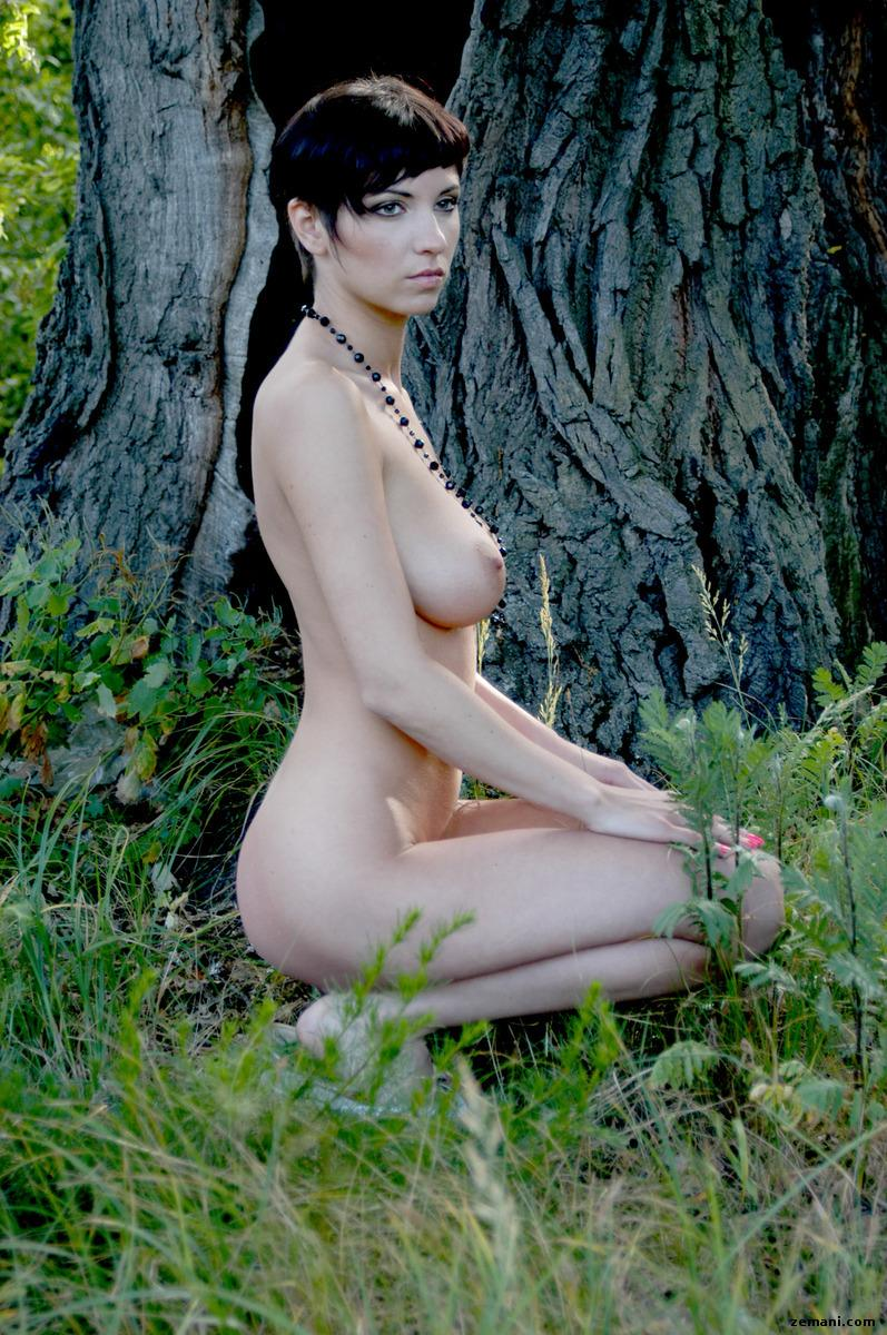 Naked women in forest