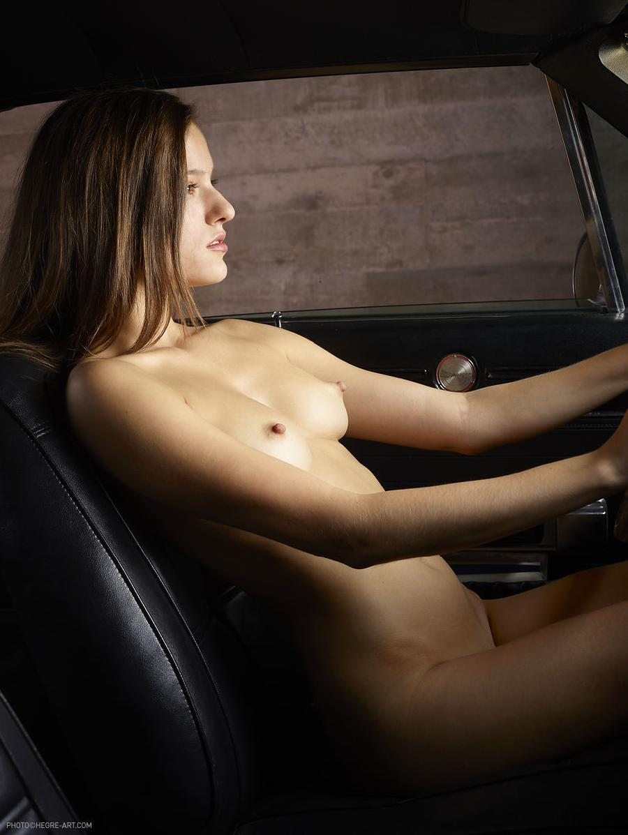 Naked girl in car - Gaby. Part 1 - 10