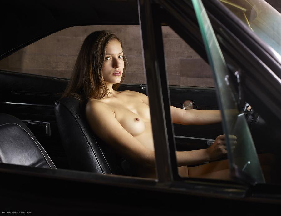 Naked girl in car - Gaby. Part 1 - 11