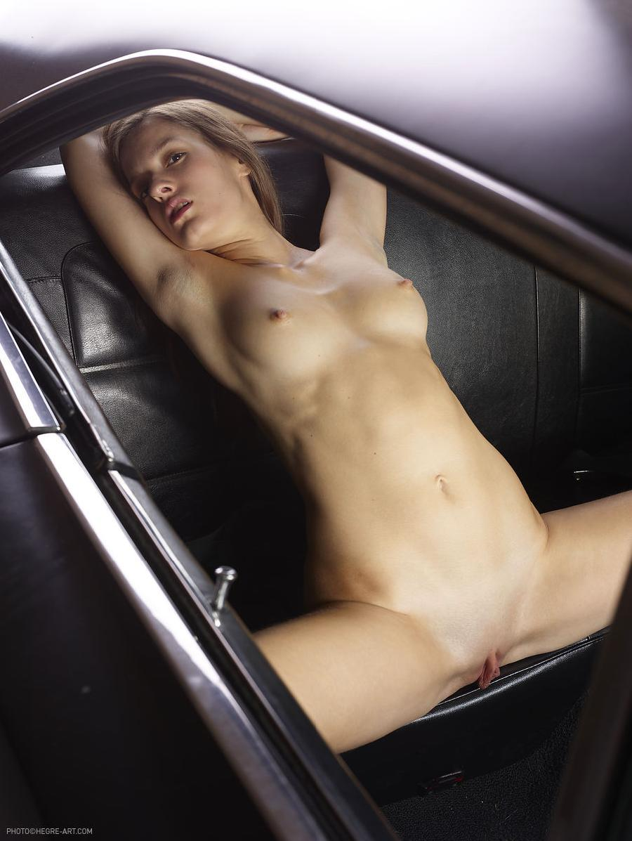 Naked girl in car - Gaby. Part 1 - 7
