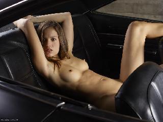 Naked girl in car - Gaby. Part 1