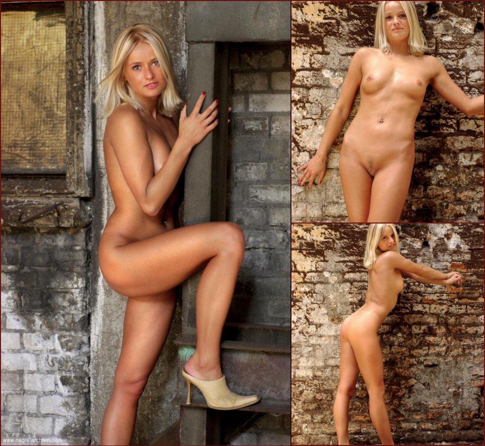 Naked blonde and abandoned factory - Dagmara - 50