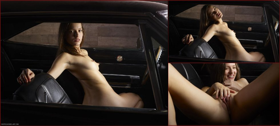 Naked girl in car - Gaby. Part 2 - 2