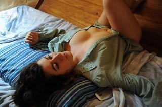 Natural Matilde with hairy pussy