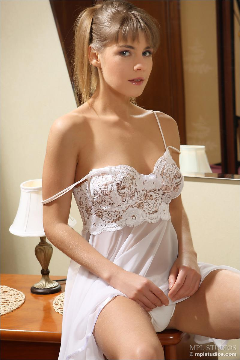 Fantastic girl in white underskirt - Emma K - 2