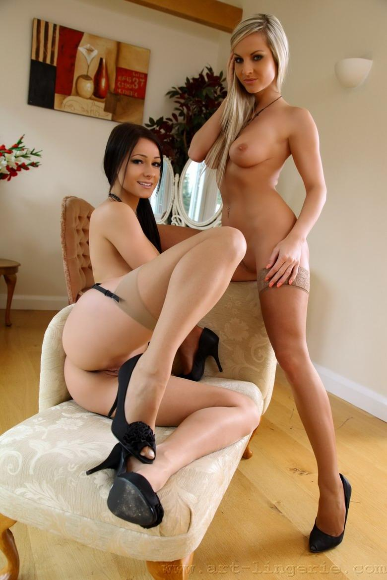 Brunette and blonde in sexy lingerie - Kristina & Ambra - 6