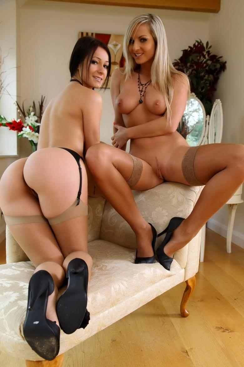 Brunette and blonde in sexy lingerie - Kristina & Ambra - 7