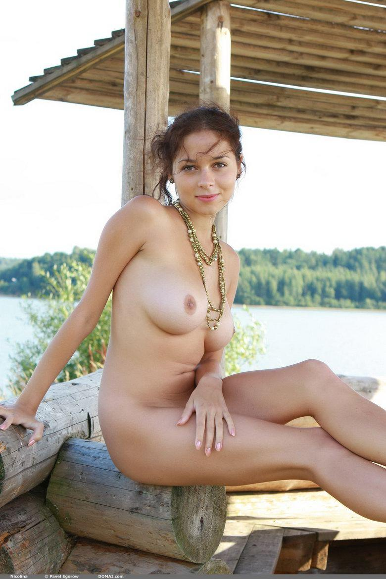 Naked girl with beautiful boobies - Nicolina - 1
