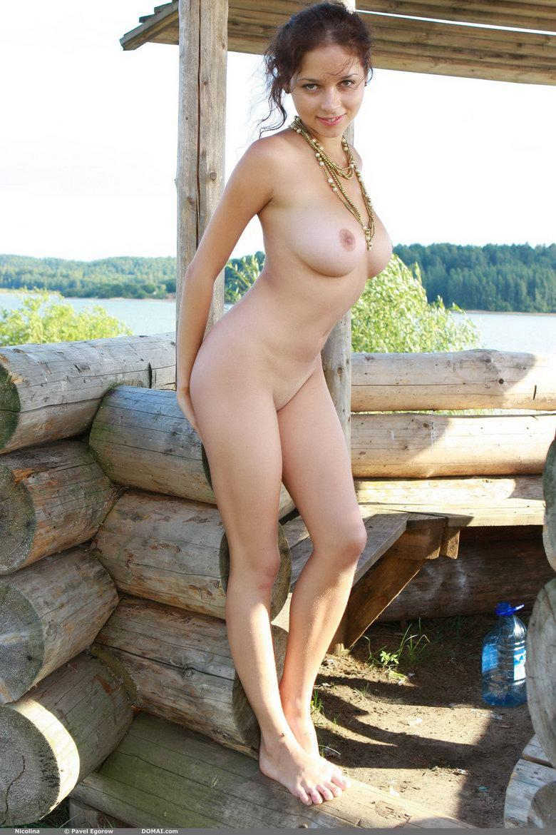 Naked girl with beautiful boobies - Nicolina - 4