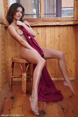 Gorgeous chick with sexy slim body - Sati