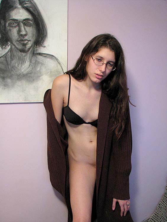 Skinny girl is playing with herself - 1