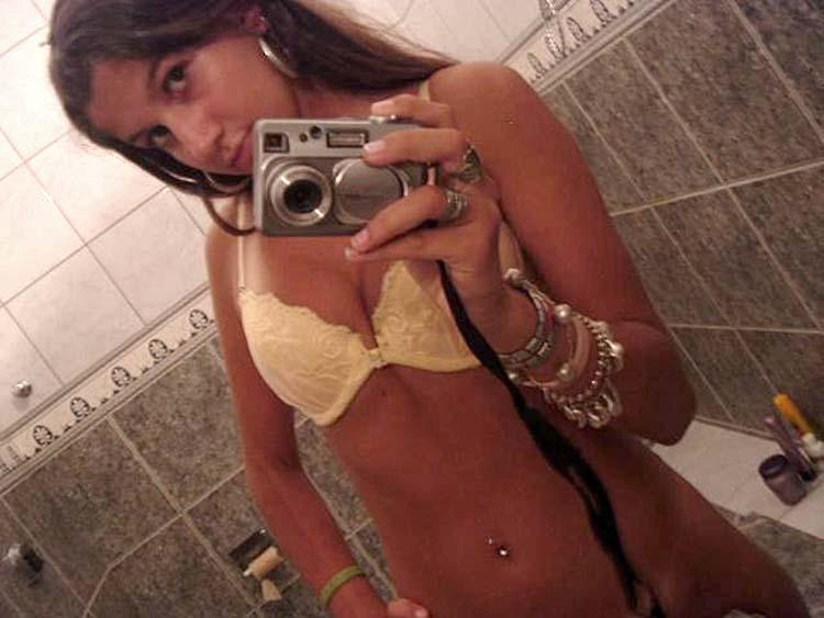 Young girl is showing tanned body - 1