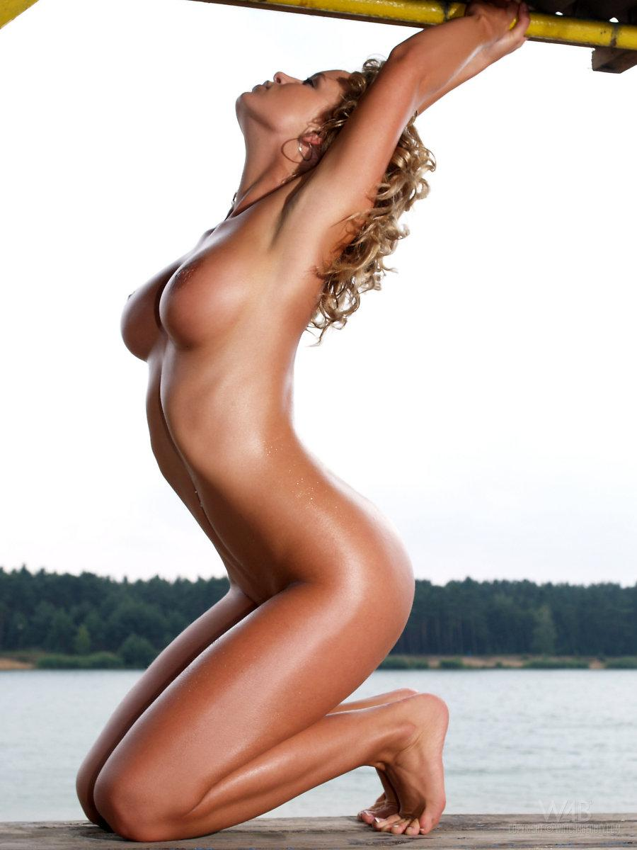 Magnificent blonde with hot tanned body - Peach - 9