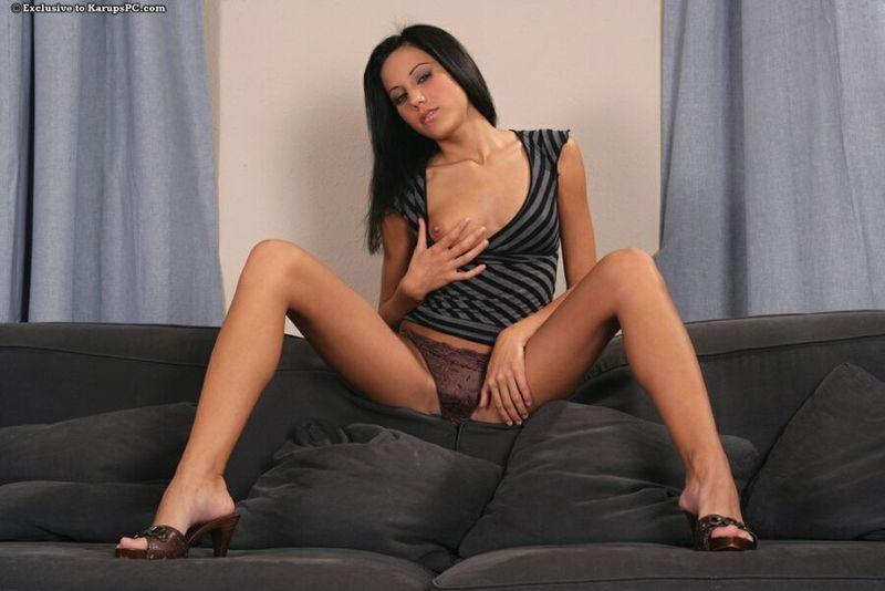 Fingering on the couch - Anita Pearl - 6